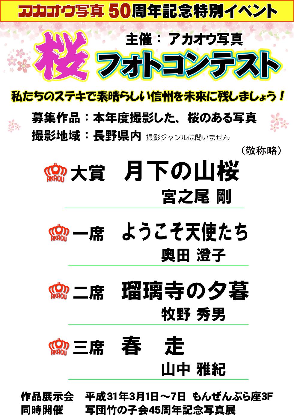桜フォトコンテスト受賞作品
